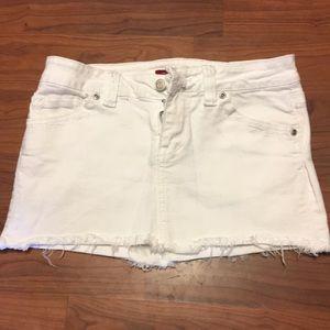 Forever 21 White Jean Mini Skirt